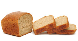 Half wheat bread round Stock Images