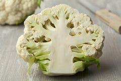 Half white cauliflower close up Stock Photo