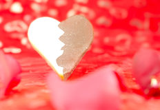 Half white, half dark chocolate shaped heart Royalty Free Stock Image
