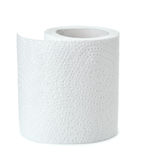 Half of white toilet paper roll stock photos