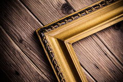 Half wood frame Royalty Free Stock Images