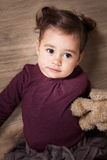 1 and a half year old baby girl indoor Stock Images