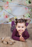 1 and a half year old baby girl indoor Stock Photo