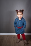 1 and a half year old baby girl indoor Royalty Free Stock Photos