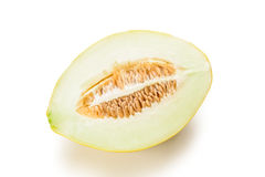 Half of yellow melon Royalty Free Stock Image
