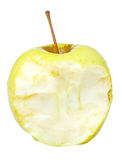 Half of yeloow golden delicious apple Royalty Free Stock Photography