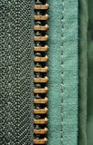Half of the zipper Royalty Free Stock Photo