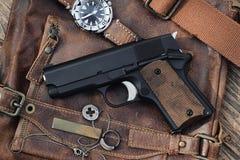 Halfautomatisch pistool, royalty-vrije stock foto