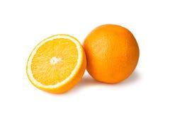 halfe橙色全部 库存照片