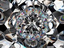 Halfedelsteen of diamant Abstracte textuurclose-up en caleidoscoop stock afbeeldingen