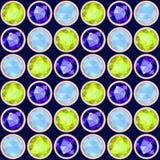 Halfedelsteen naadloos patroon Stock Afbeeldingen