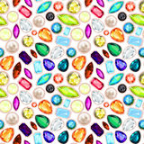 Halfedelsteen naadloos patroon. Stock Fotografie
