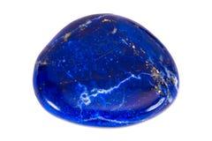 Halfedelsteen op witte achtergrond, lapis lazuli Royalty-vrije Stock Fotografie