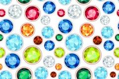 Halfedelsteen verzadigd kleuren naadloos patroon Stock Fotografie