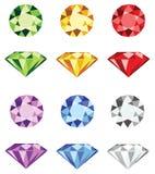 Halfedelstenen - de vector van de diamantbesnoeiing Royalty-vrije Stock Foto