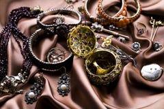 Halfedelstenen - Juwelen royalty-vrije stock foto's