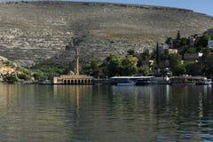 Halfeti ist ein Bezirk von Åžanlıurfa-Provinz König von Assyria I lizenzfreie stockfotos