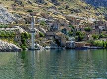 Halfeti ist ein Bezirk von Åžanlıurfa-Provinz König von Assyria I lizenzfreie stockfotografie