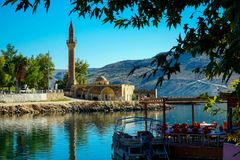 Halfeti village in Turkey royalty free stock photo