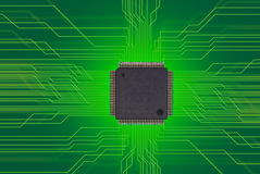 Halfgeleider, spaander Stock Afbeelding