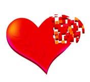 Halfheart Royalty Free Stock Photo