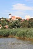 Halfisland Tihany, Ungern, år 2008 Fotografering för Bildbyråer