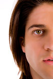 Halflength view of man's face Royalty Free Stock Photo