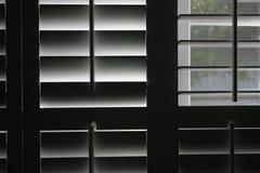 Halfopen vensters Stock Foto
