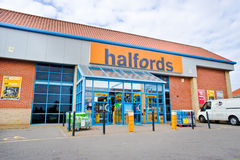 Halfords Store Royalty Free Stock Images