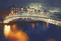 Halfpenny Bridge Stock Photography