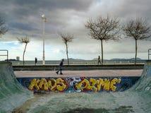 Halfpipe σε Samil - το Vigo Στοκ φωτογραφία με δικαίωμα ελεύθερης χρήσης