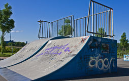Halfpipe. A Skatebord Halfpipe in a Garden for Skater in Germany Royalty Free Stock Photography