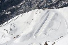 Halfpipe en una montaña Fotos de archivo libres de regalías