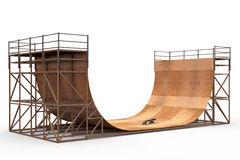Halfpipe with skateboard Stock Image