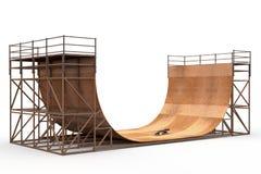 Halfpipe with skateboard Stock Image