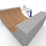 Halfpipe skateboard Royalty Free Stock Images