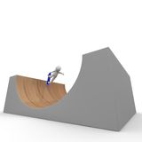 Halfpipe skating Stock Photo