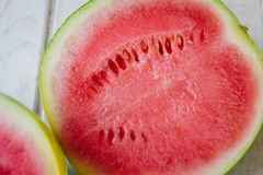 Halfs of delicious red watermelon. Stock Photos