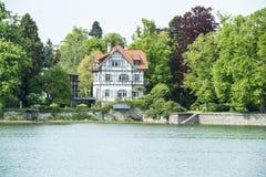 Halftimber dom na Jeziornym Constance, Niemcy Obraz Stock