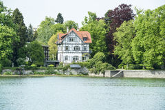 Halftimber house on Lake Constance, Germany Stock Image