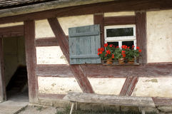 Halftimbered. Front view of an old framework house Royalty Free Stock Photos