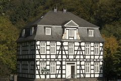 Halftimbered mansion with slated roof Stock Photos