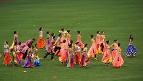 Halftime show at The 2015 Cricket All-Stars Match in New York. Halftime show at The 2015 Cricket All-Stars Exhibition Match at Citi Field in New York, on Stock Photography