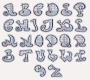 Halfton Alphabet Royalty Free Stock Images