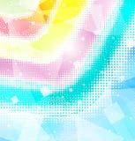 Halfton del arco iris del fondo stock de ilustración