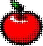 halftone конструкции яблока Стоковое Изображение RF