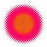 halftone круга Стоковое Изображение
