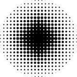 halftone круга Стоковое Изображение RF