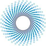 halftone кругов предпосылки голубой Стоковое фото RF