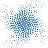 halftone многоточий предпосылки голубой Стоковые Изображения